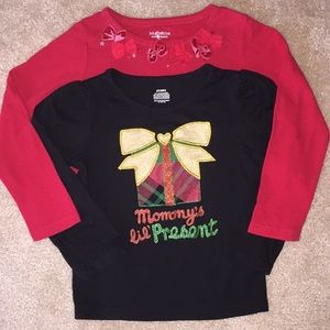 Bundle long sleeve xmas shirts size 3T